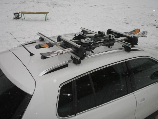 Перевозка лыж на крыше авто своими руками 10
