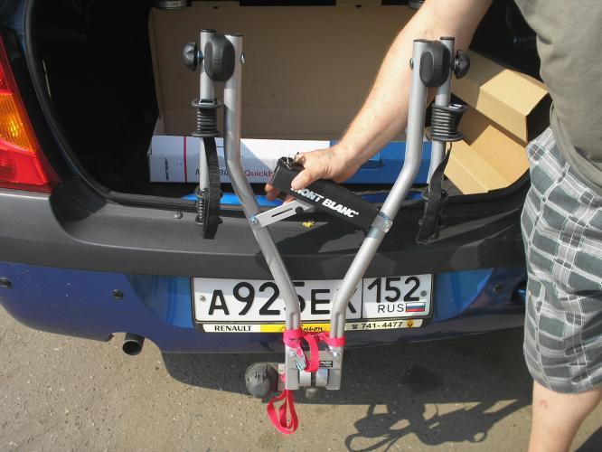 Крепление велосипеда на фаркоп автомобиля своими руками
